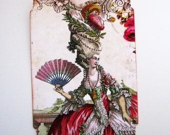 Chic Marie Antoinette Gift Tags