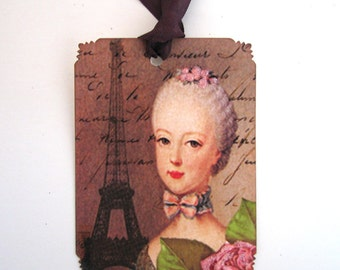 French Chic Marie Antoinette Tags