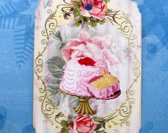 Cake Dessert Tags Shabby French Gift Tags
