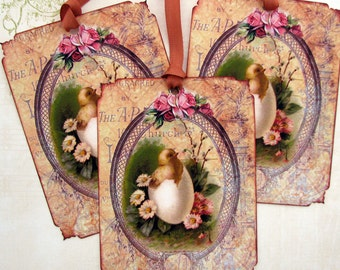 Easter gift tags etsy shabby french easter gift tags negle Gallery