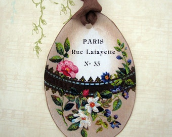 Gift Tags French Chic Egg