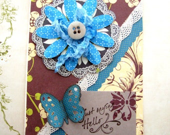 Butterfly Card Shabby Chic
