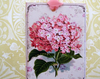 Sweet Cottage Shabby Pink Hydrangea Gift Tags