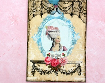 French Chic Style Gift Tags Marie Antoinette Shabby