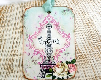Paris Eiffel Tower Tags Shabby French Chic