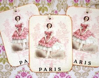 French Ballerina Paris Dancer Gift Tags