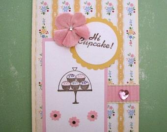 SALE  Cupcake Birthday Card