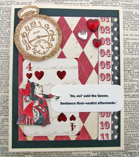 Queen of Hearts Alice in Wonderland Card