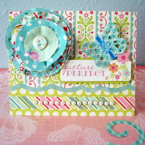 Posie and Butterfly Card