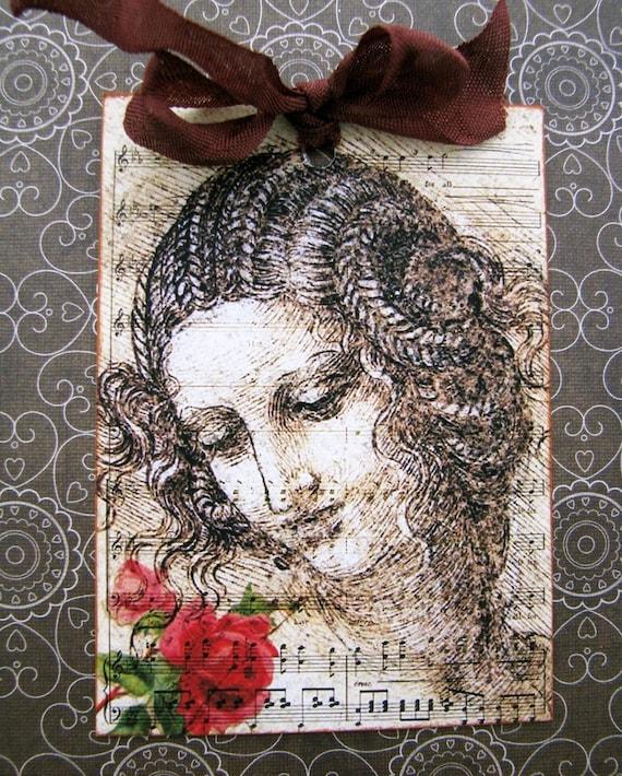 Da Vinci's Rose Gift Tags