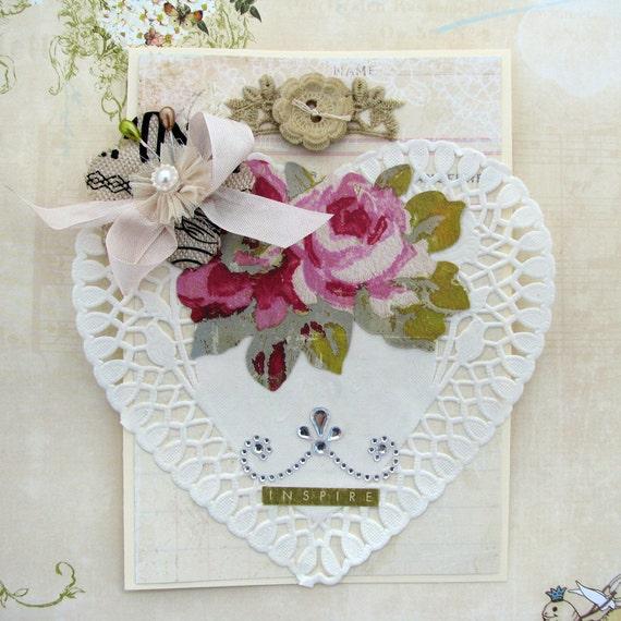 Shabby Chic Card Romantic Heart