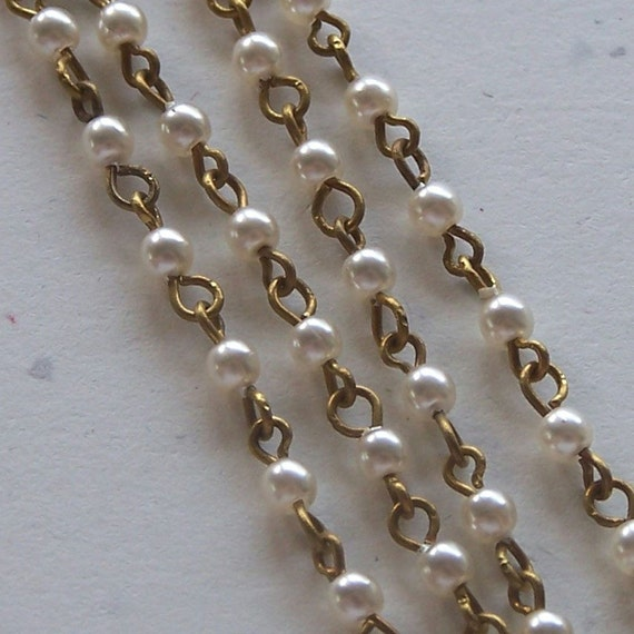 Brass Bouquet's Specialty Pearl Chain,  6 inches