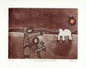 Hommage aux Inuits IV (e\/e No 7 - 1\/1), ETCHING