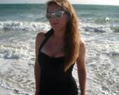 Fall Sale ... Noir Maillot One piece Black Retro Swimsuit