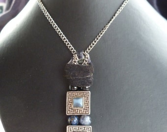 Black and Blue Royalty Necklace