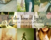 For the Love of light book - reserved for Brandon