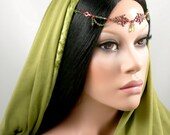 Fyielle - Elven Crystal Medieval Princess Renaissance Circlet/Headpiece