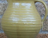 Yellowware Pitcher Cornelison Pottery Bybee KY Vintage