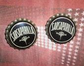 RETRO Sarsaparilla Soda Earrings vintage bottle caps