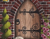 Gothic Arch Door Print
