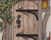 English Tudor Door Print