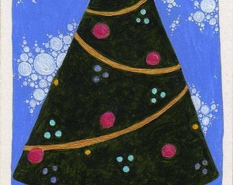 Original ACEO Christmas Tree