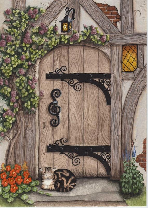 English Tudor Door Print