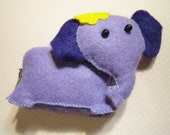 Curious Purple Elephant Felt