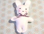 Felt White Bunny Doll, Felt Rabbit Doll, Christmas Ornament, Cute Bunny Doll, Felt Toy, Easter Bunny, Easter Gift, Gift for Kid, Kawaii Doll