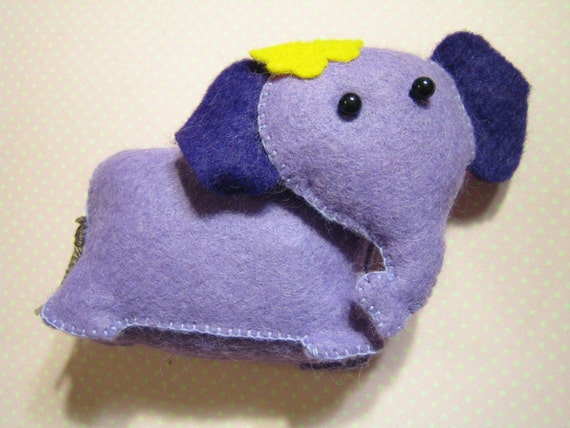 Curious Purple Elephant Felt