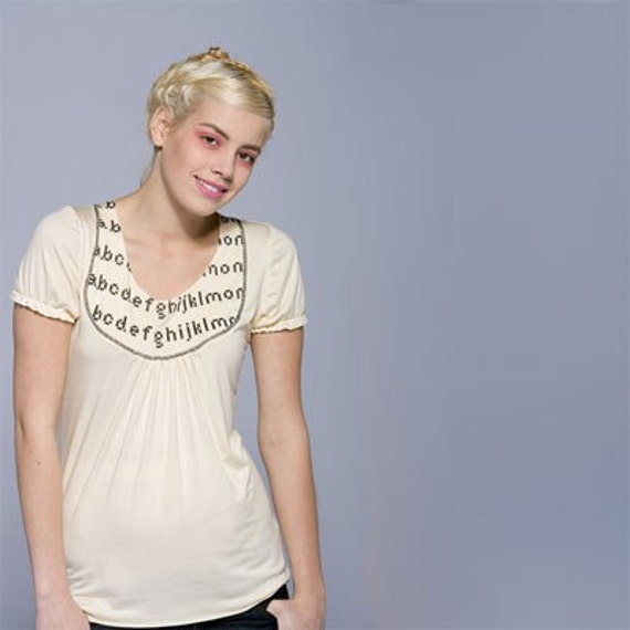 Alphabet Shirt Small - free US shipping -SALE