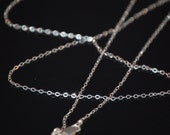 Sterling Silver chain 20 or 22 inches. 50.8 or  55.8 centimeters