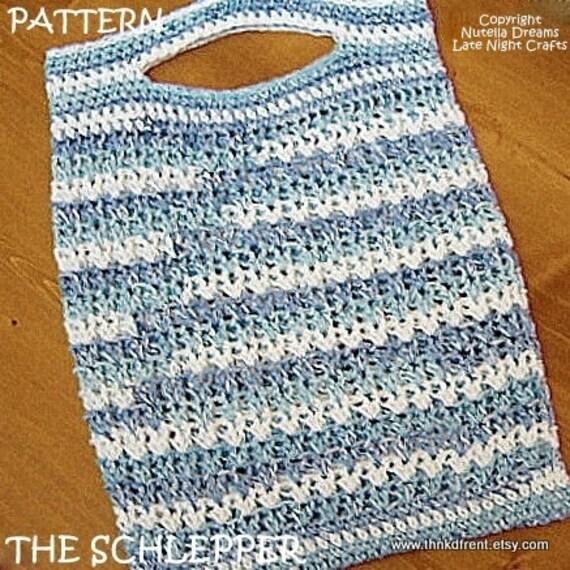 Crochet Market Tote Pattern : PATTERN - The Schlepper Market Tote Bag Crochet Pattern-Eco Friendly ...