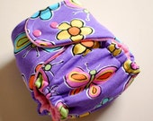 Fitted Cloth Diaper Butterfly Garden