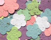 100 HERB-seeded Plantable Ume Plum Blossoms - Handmade Paper Flowers and other items
