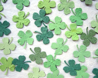 200 Seed Paper Clovers - Plantable Clover Confetti Lucky in Love Irish Wedding Favors - Flower Seed Paper Lucky Four Leaf Clovers Shamrocks