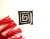 Egyptian Swirl STAMP- Handcarved