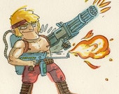 Ikari Warriors 2 - original NES illustration
