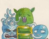 Adventures of Lolo 2 - original NES illustration