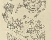 Tektite - print of legend of zelda illustration
