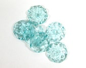 PALE AQUA Transparent Ruffle Lampwork Beads