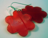 Recycled Vintage Vinyl Flower Earrings