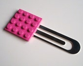 Bookmark made with Dark Pink Lego (r) plate