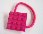 Pony Tail holder made with Lego (r) plate Dark Pink