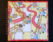 Chutes and Ladders Game Board Notebook Journal Spiral Bound