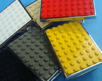 Belt Buckle inlaid with altered LEGO® plate