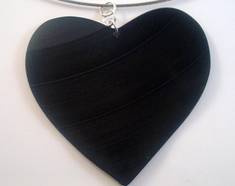I Heart Vinyl Rockstar Necklace