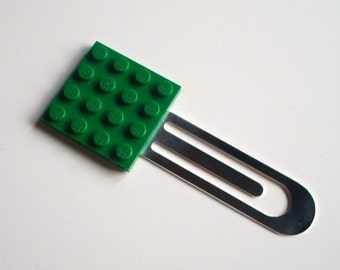 Brick Bookmark GREEN made with LEGO® plate