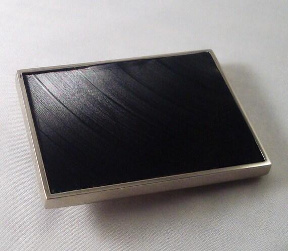 Record Vinyl Inlay Belt Buckle