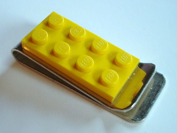 Money Clip made with Bright Yellow LEGO® plate